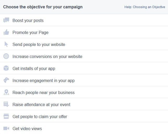 Adwords Campaign Objective
