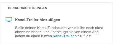 Kanal Trailer hinzufuegen