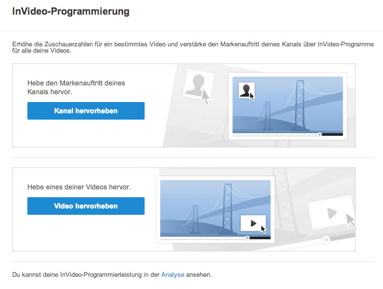 InVideo Programmierung
