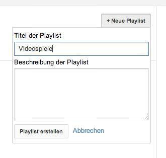 Playlist erstellen