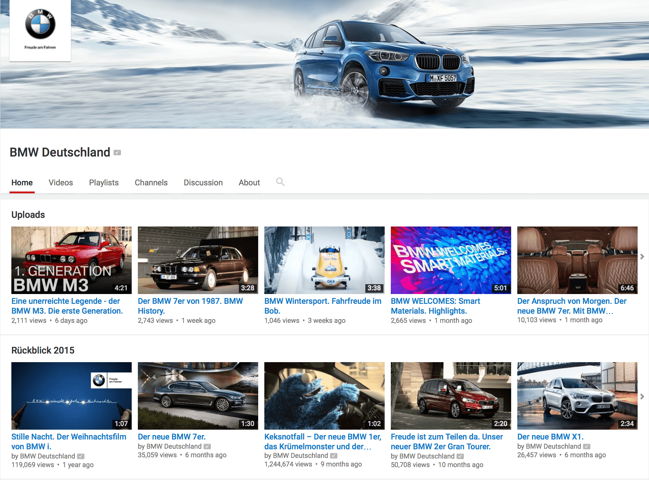 YouTube Kanal BMW