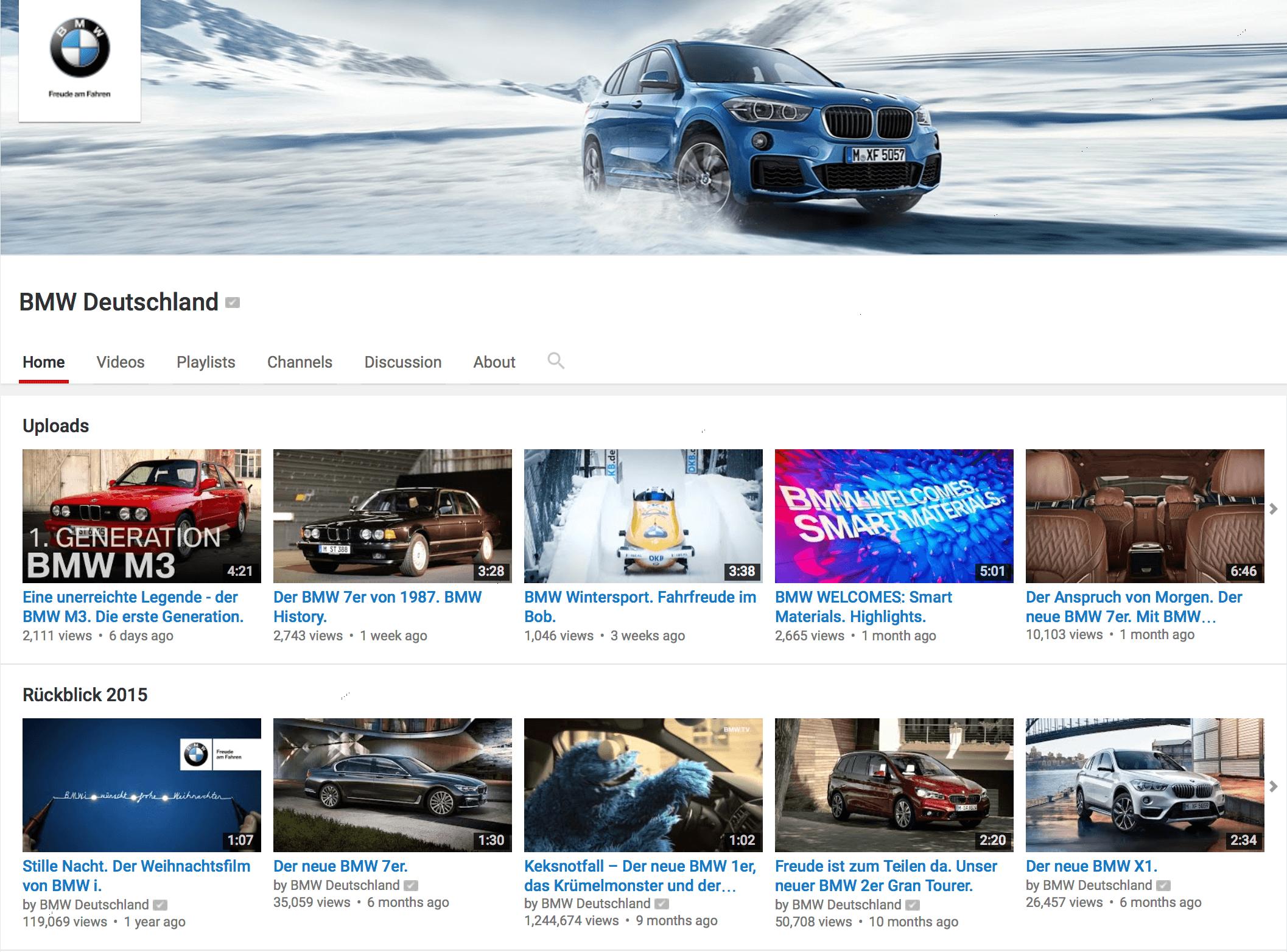 YouTube Kanal BMW