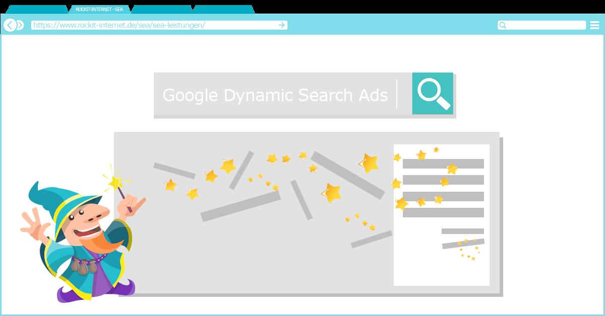 dynamische suchanzeige, dsa, dynamic search ads