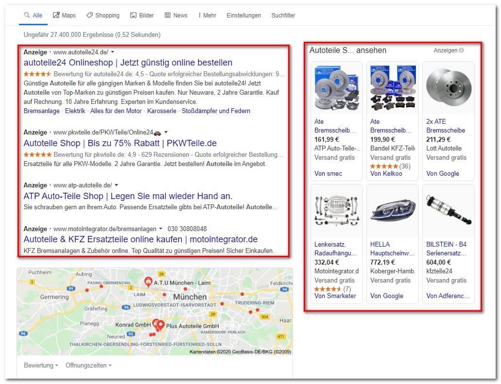 PPC Suchmaschinenwerbung AdWords