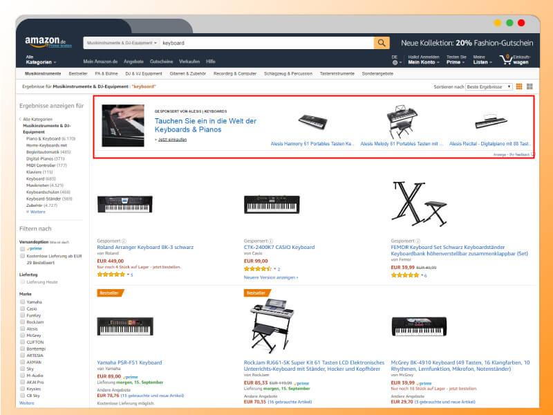 Headline Search Ads, Amazon