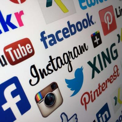 Grafik Social Media Marken