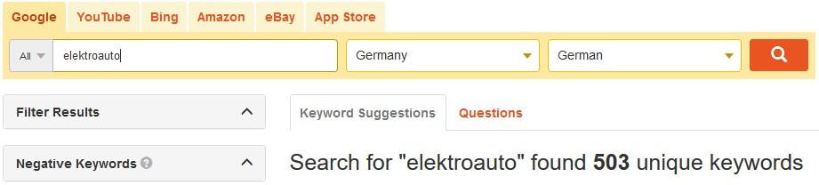 Keyword Recherche, Tool,