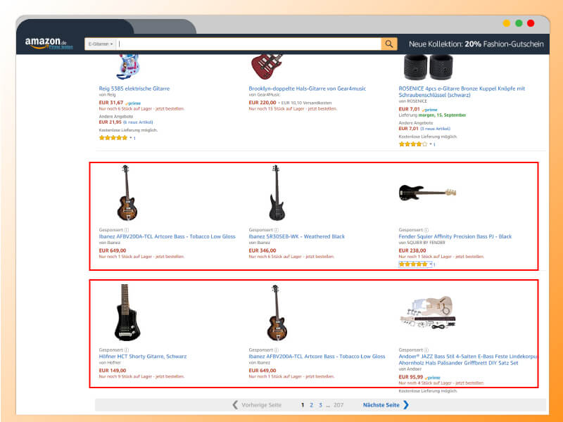 Sponsored Product Ads, Amazon, Werbung, Werbeanzeigen, Ads