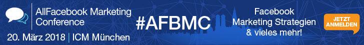 Tickets AFBMC, anmeldung afbmc, facebook konferenz