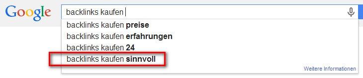 """Google """"Backlink kaufen"""""""