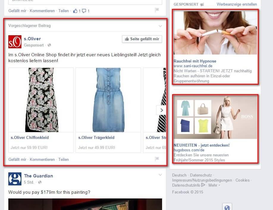 Werbung auf Facebook