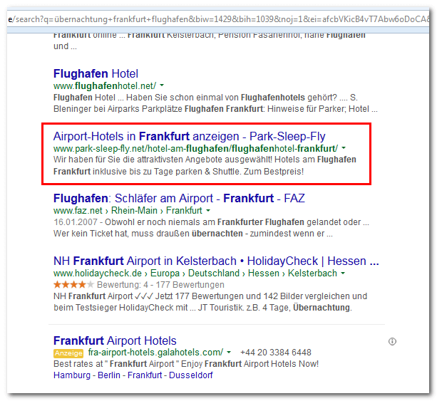 Linktext der internen Verlinkung als Title in SERPs