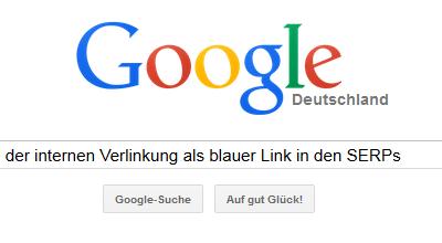 Bild Interne Verlinkung Google