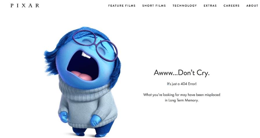 Broken Linkbuilding - Pixar 404-Seite