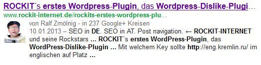 google authorship snippet
