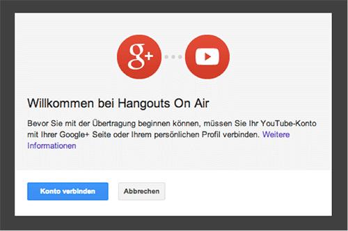 Youtube mit G+ verbinden